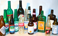 A wide variety of breakaway glass bottles