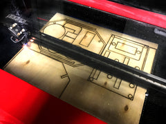 Co2 Laser Cutting and Engraving machine making parts to be used on our Vaccuform Machine.