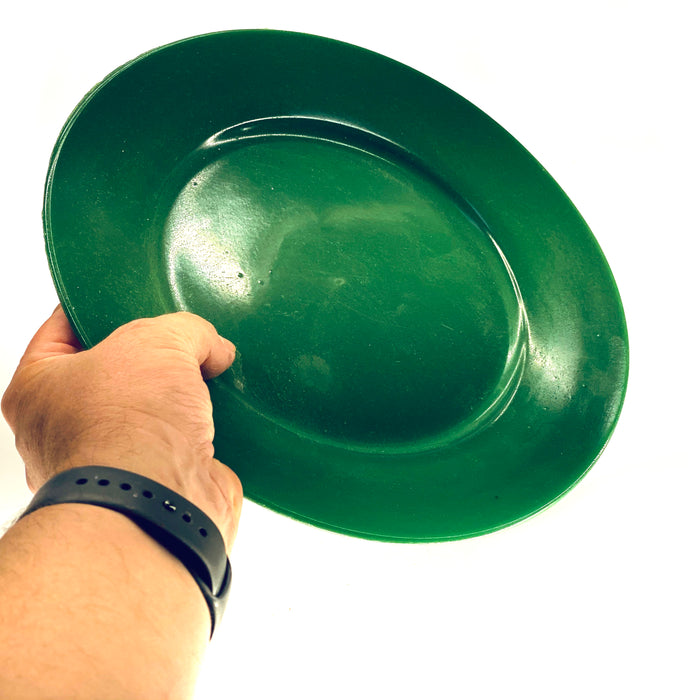 NewRuleFX Brand SMASHProps Breakaway Large Dinner Plate - DARK GREEN opaque - Dark Greek,Opaque