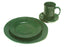 NewRuleFX Brand SMASHProps Breakaway 4 Piece Place Setting - DARK GREEN opaque - Dark Greek,Opaque