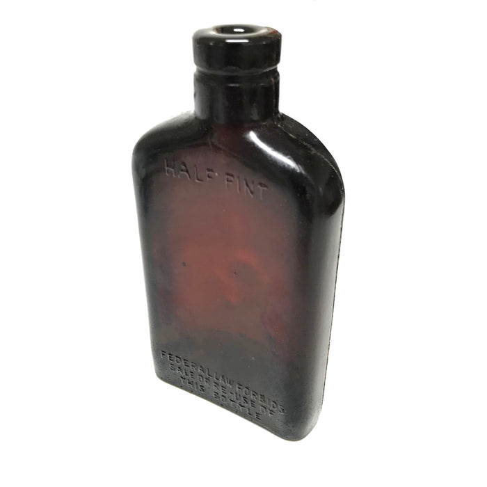 NewRuleFX Brand SMASHProps Breakaway Half Pint Flask Bottle Prop - AMBER BROWN translucent - Amber Brown Translucent