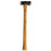 NewRuleFX Brand 35 Inch Dual Head Urethane Foam Rubber Axe Stunt Prop - BLACK / SILVER - Black and Silver Head with Lightwood Grain Handle