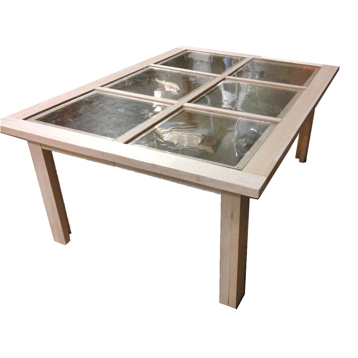 NewRuleFX Brand Balsa Wood and Glass Breakaway Coffee Table Smashable Stunt Prop - NATURAL - Natural