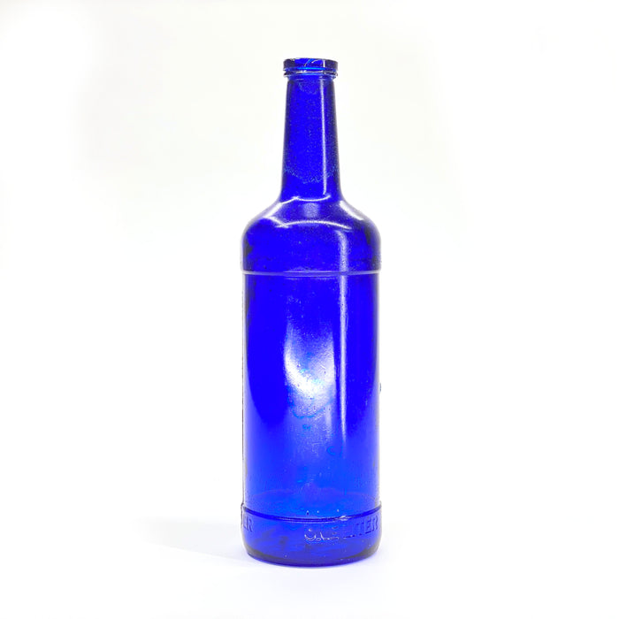 NewRuleFX Brand SMASHProps Breakaway Russian Vodka Bottle Prop - COBALT BLUE translucent - Cobalt Blue Translucent