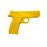 Solid Hard Poly-Plastic Police S&W MP40 Black Pistol Prop - Yellow