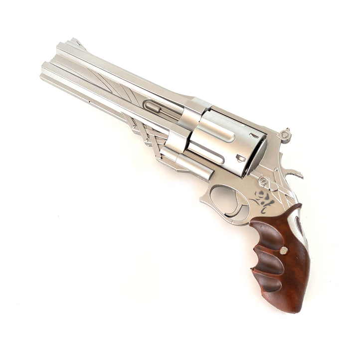 Rubber Video Game Style Double Barrel Pistol Prop