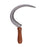 NewRuleFX Brand Foam Rubber Hand Sickle- NEW - Silver Head with Lightwood Grain Handle