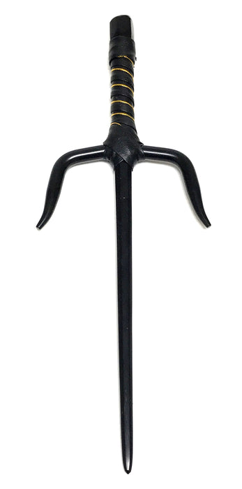 All Metal Black TMNT Raphael Style 15 Inch Sai Props with Black & Gold Handle 1 Pair - 2 Pieces