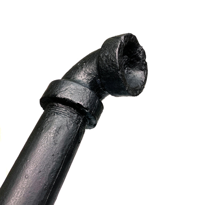 NewRuleFX Brand Foam Rubber Metal Pipe with Fittings Action Stunt Prop - BLACK - Black