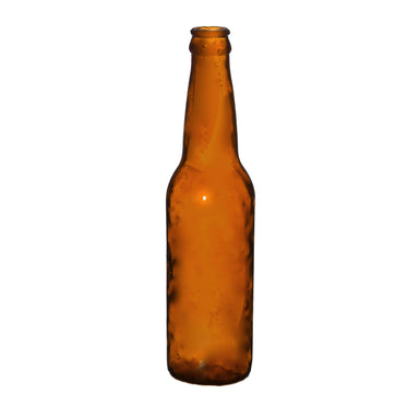 NewRuleFX Brand SMASHProps Breakaway Standard Beer or Soda Bottle Prop - AMBER BROWN translucent - Amber Brown Translucent