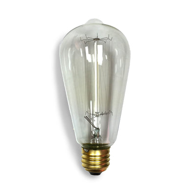 "REAL Vintage Style 40 Watt Edison ""Squirrel Cage"" Filament Bulb E26 Base"