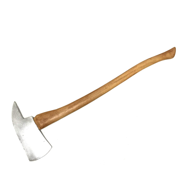 "NewRuleFX Brand 36 Inch Urethane Foam Rubber Stunt Axe Prop as seen in ""The Shining"" - NEW Silver - Silver Head with Lightwood Grain Handle"