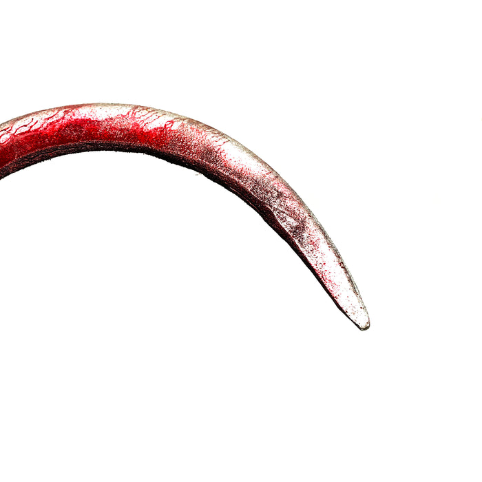 NewRuleFX Brand Foam Rubber Hand Sickle - BLOODY - Bloodied Silver Head with Aged Handle