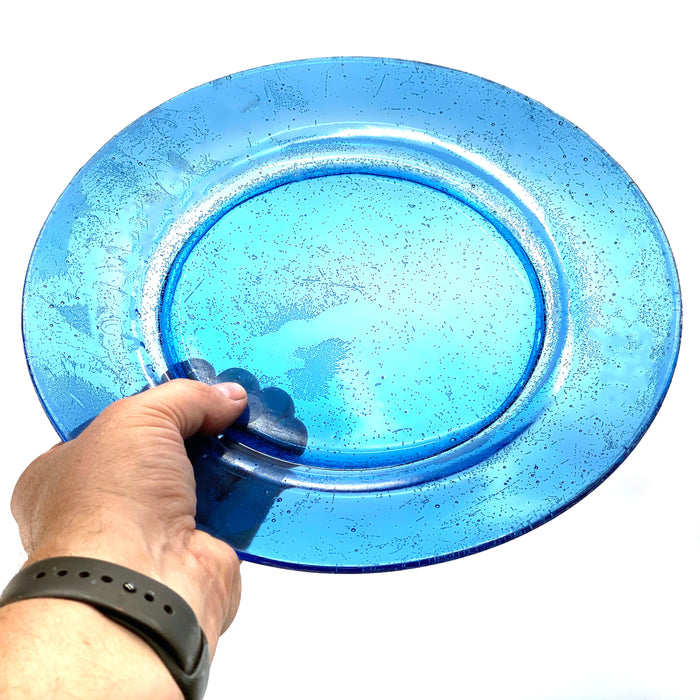NewRuleFX Brand SMASHProps Breakaway Large Dinner Plate - LIGHT BLUE translucent - Light Blue,Translucent