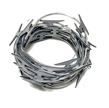 NewRuleFX Brand Actor Safe Imitation Metal Razor Wire 10ft - SILVER - Silver