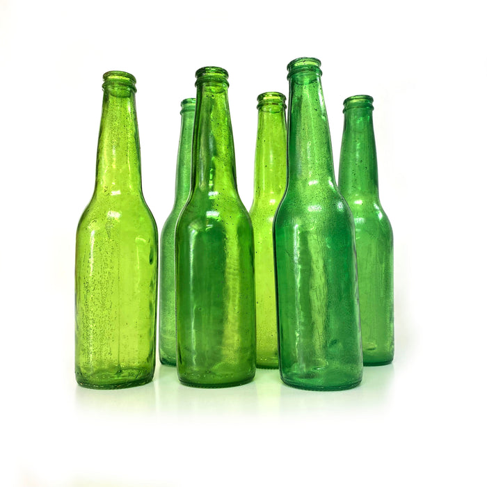 NewRuleFX Brand SMASHProps Breakaway Beer Bottle Prop VALUE 6 Pack - DARK GREEN translucent - Dark Green Translucent