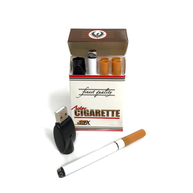 NewRuleFX Brand Electronic Actor Cigarette Prop Kit - USB, Vapor Smoke, LED Burn/Ash Effect - TAN