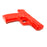 Solid Hard Poly-Plastic Police S&W MP40 Black Pistol Prop - Red