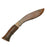NewRuleFX Brand Foam Rubber Kukri Blade - RUSTY - Rusty Blade with Brown Handle