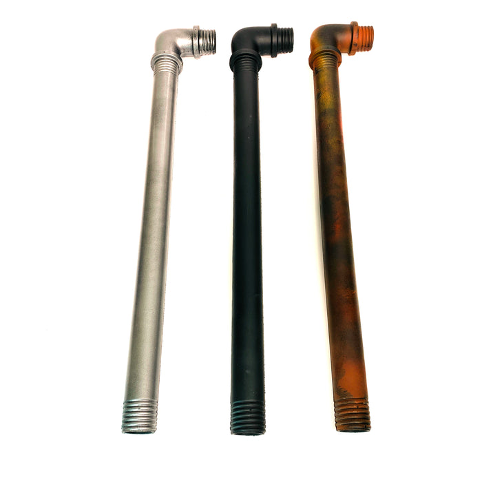 NewRuleFX Brand 2 Inch Length Foam Rubber Metal or Lead Pipe with 90 degree Elbow - SILVER - Silver