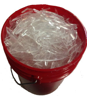 NewRuleFX Brand Crystal Clear Silicone Rubber Glass - SHARDS 25 LB - Shards,25 Pounds
