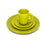 NewRuleFX Brand SMASHProps Breakaway 4 Piece Place Setting - LIGHT GREEN opaque - Light Green,Opaque