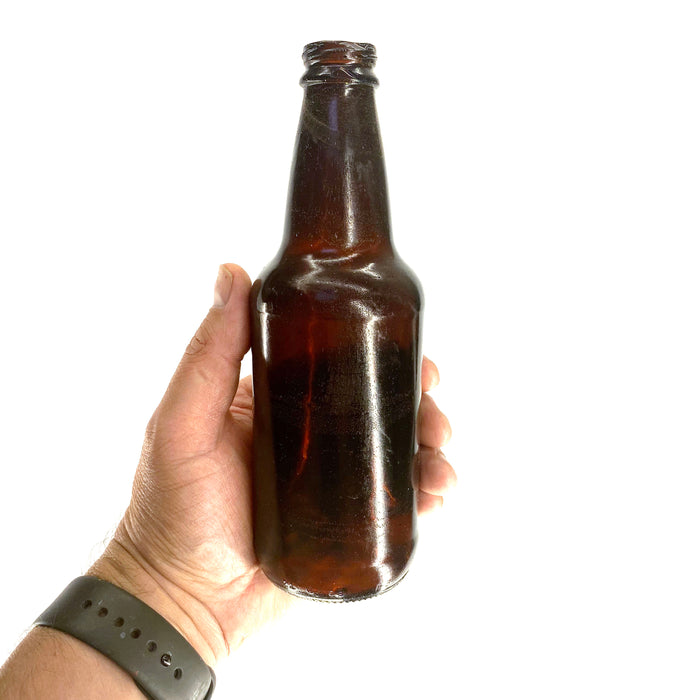 NewRuleFX Brand SMASHProps Breakaway Craft Beer Bottle Prop - Amber Brown Translucent