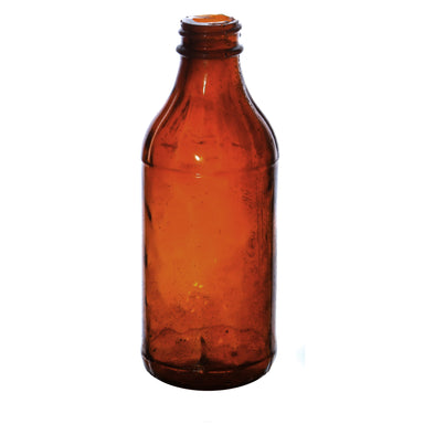 NewRuleFX Brand SMASHProps Breakaway Vintage Medicine Bottle Prop - AMBER BROWN translucent - Amber Brown Translucent
