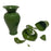 NewRuleFX Brand SMASHProps Breakaway Large Georgian Vase 7.5 Inch - DARK GREEN opaque - Dark Green Opaque