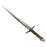 Lightweight Foam Chrome Medieval Sword - All Brown Handle