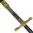 "43"" Gold, Silver King Arthur Knight's of the Round Table Excalibur Metal Replica Sword and Display"