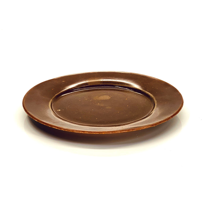 NewRuleFX Brand SMASHProps Breakaway Large Dinner Plate - AMBER BROWN opaque - Amber Brown,Opaque