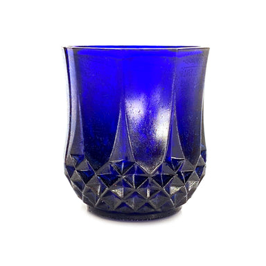 NewRuleFX Brand SMASHProps Breakaway Crystal Cut Tumbler Glass - COBALT BLUE translucent - Cobalt Blue Translucent