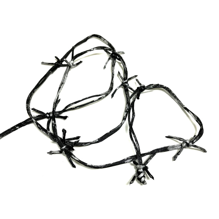NewRuleFX Brand Actor-Safe Imitation Metal Barbed Wire 12ft - BLACK