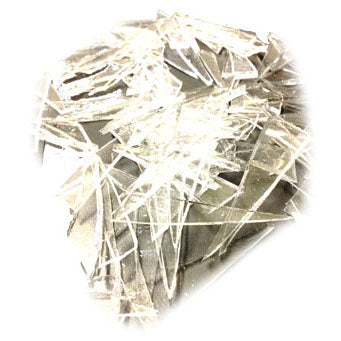 NewRuleFX Brand Crystal Clear Silicone Rubber Glass - SHARDS 1 LB - Shards,1 Pound