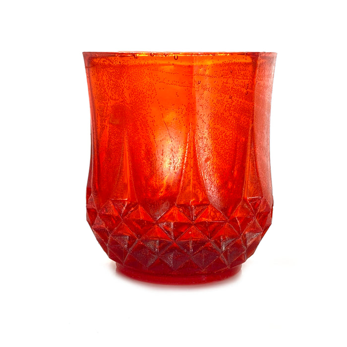 NewRuleFX Brand SMASHProps Breakaway Crystal Cut Tumbler Glass - RED translucent - Red Translucent