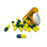 Fake Medicine Pill Capsules in 16 Dram Amber Plastic Medicine Vial with Lid - GREEN / YELLOW - Yellow / Green Pills
