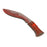 NewRuleFX Brand Foam Rubber Kukri Blade - BLOODY - Bloodied Silver Blade with Brown Handle