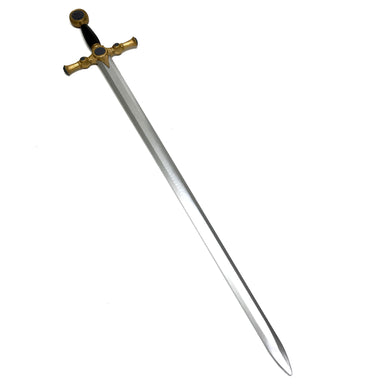 Masonic Arming Sword Urethane Foam with Fiberglass Core - Flexible 45 Inch Cosplay LARP Action Prop