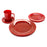 NewRuleFX Brand SMASHProps Breakaway 4 Piece Place Setting - RED opaque - Red,Opaque