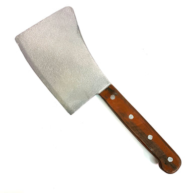 NewRuleFX Brand Extra Large Foam Rubber Butcher's Cleaver - NEW - Silver Blade with Brown Handle