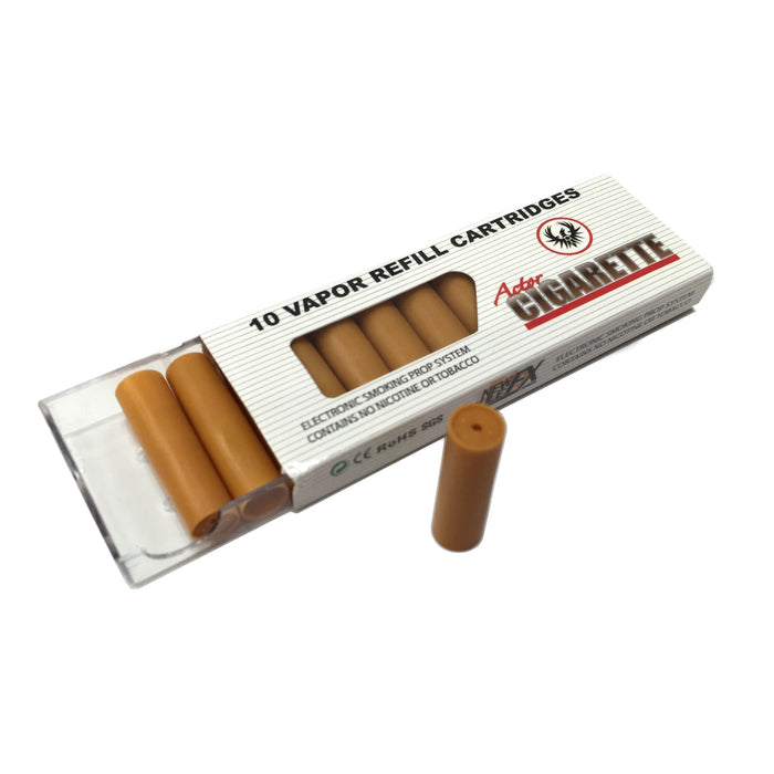 NewRuleFX Brand Electronic Actor Cigarette Prop Refill Cartridges TAN - 10 PIECES