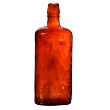 NewRuleFX Brand SMASHProps Breakaway Vintage Full Pint Bottle Prop - AMBER BROWN translucent - Amber Brown Translucent