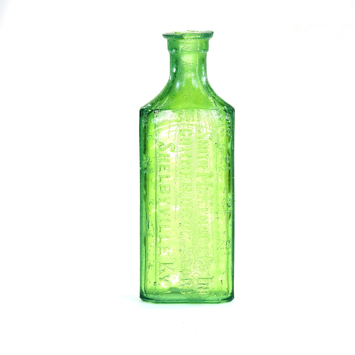 NewRuleFX Brand SMASHProps Breakaway Small Poison Bottle Prop - DARK GREEN translucent - Dark Green Translucent