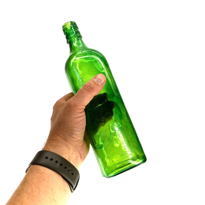NewRuleFX Brand SMASHProps Breakaway Scotch Whiskey Bottle Prop - DARK GREEN translucent - Dark Green Translucent