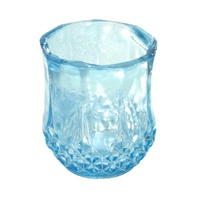 NewRuleFX Brand SMASHProps Breakaway Crystal Cut Tumbler Glass - LIGHT BLUE translucent - Light Blue Translucent