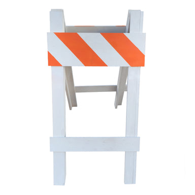 NewRuleFX Brand Balsa Wood Crash-able Traffic Barricade Stunt Prop - ORANGE / WHITE - White with Orange Stripes