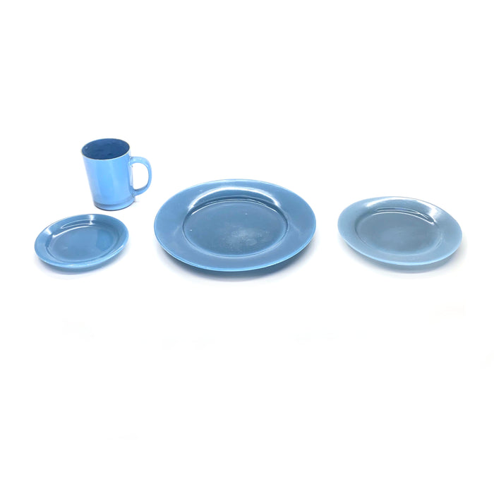 NewRuleFX Brand SMASHProps Breakaway 4 Piece Place Setting - LIGHT BLUE opaque - Light Blue,Opaque
