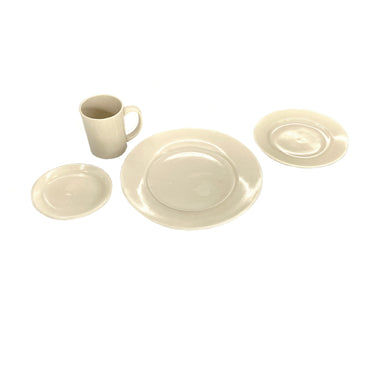 NewRuleFX Brand SMASHProps Breakaway 4 Piece Place Setting - WHITE - White,Opaque