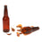 NewRuleFX Brand SMASHProps Breakaway Beer Bottle Prop VALUE 6 Pack - AMBER BROWN translucent - Amber Brown Translucent